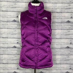 The North Face Puffer Vest XS Purple